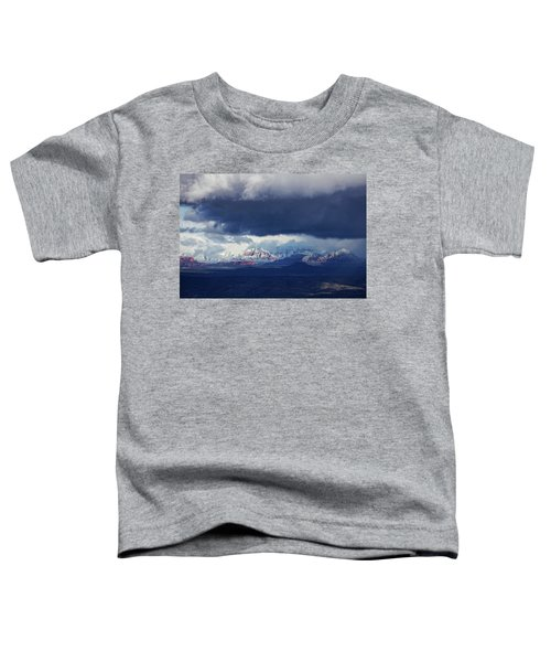 Sedona Area Third Winter Storm Toddler T-Shirt