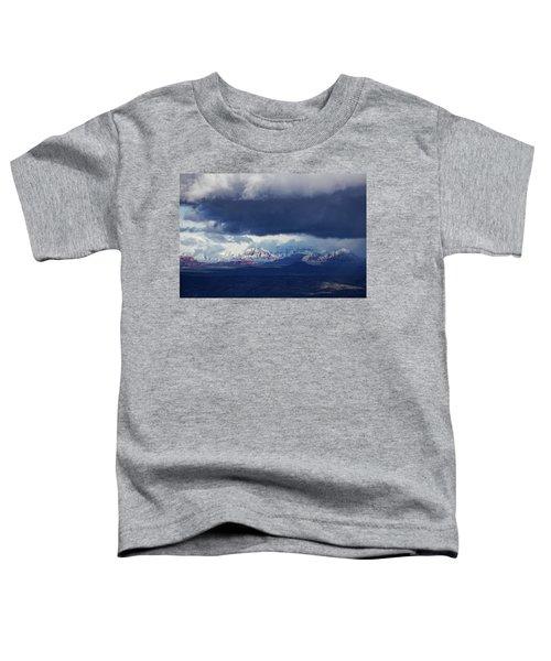 Sedona Area Third Winter Storm Toddler T-Shirt