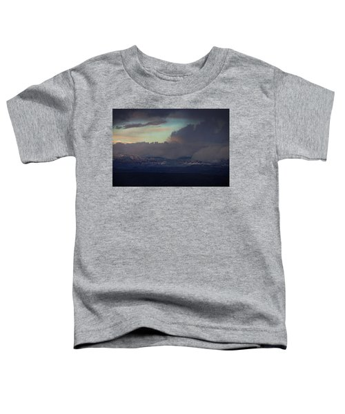 Sedona At Sunset With Red Rock Snow Toddler T-Shirt