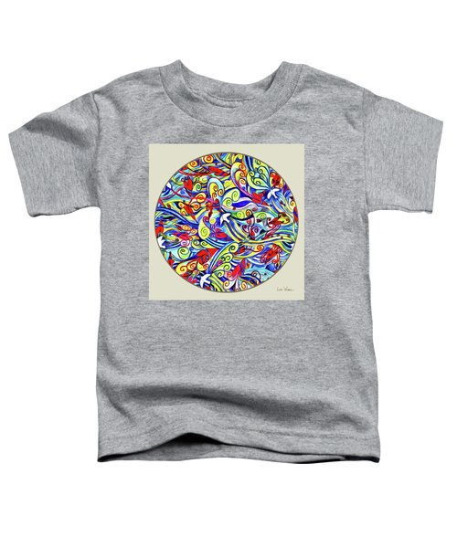 Semi Abstract Paintings Button Toddler T-Shirt