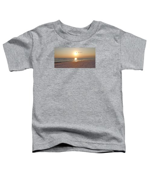 Shackleford Banks Sunset Toddler T-Shirt by Betsy Knapp