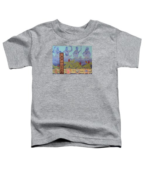 Toddler T-Shirt featuring the painting She Makes Rain by Chholing Taha