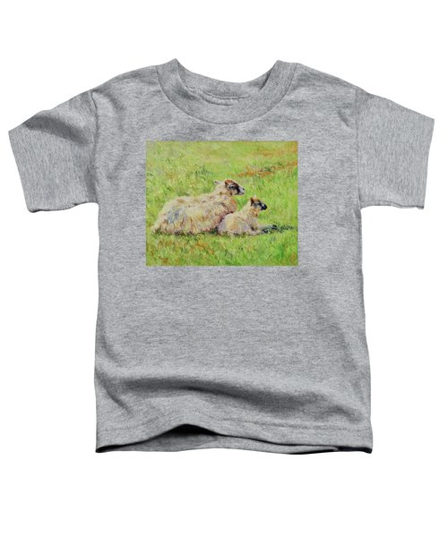 Sheep In The Spring Time,la Vie Est Belle Toddler T-Shirt