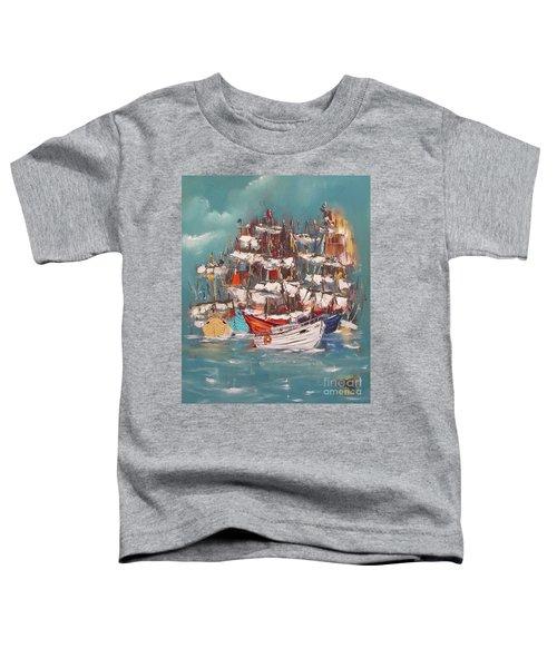 Ship Harbor Toddler T-Shirt