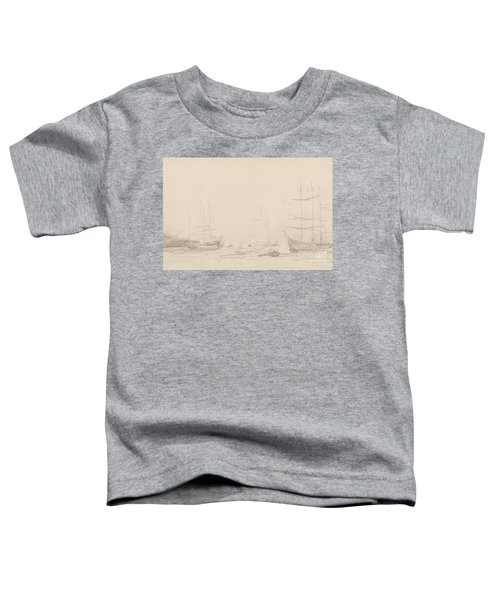 Shipping In Falmouth Harbour Toddler T-Shirt