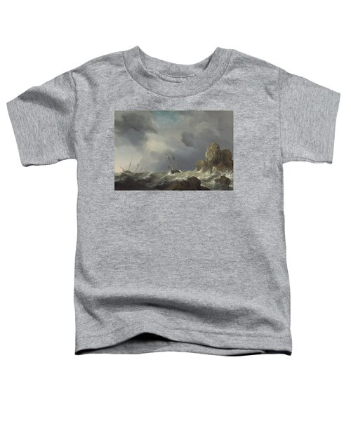 Ships In A Gale Toddler T-Shirt
