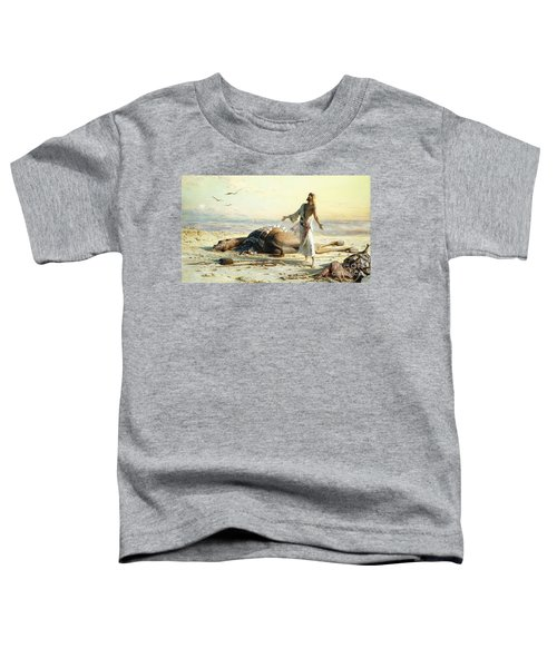 Shipwreck In The Desert Toddler T-Shirt by Carl Haag