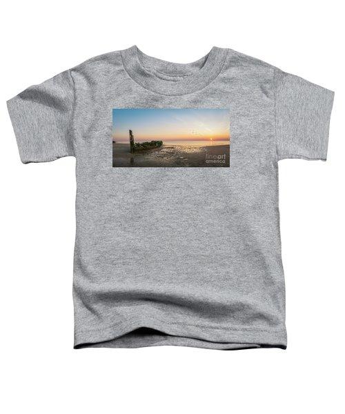 Shipwreck Sunset Panorama  Toddler T-Shirt