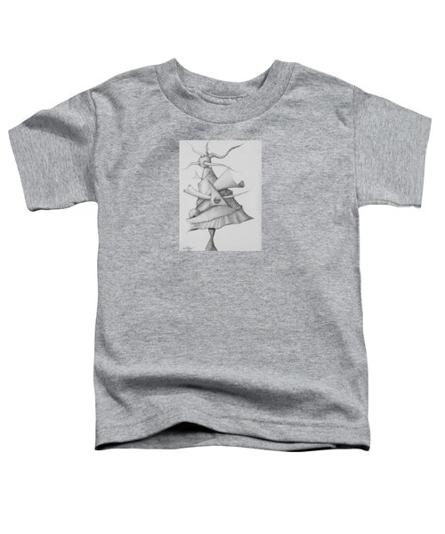 Toddler T-Shirt featuring the drawing Plasma Tree by Charles Bates