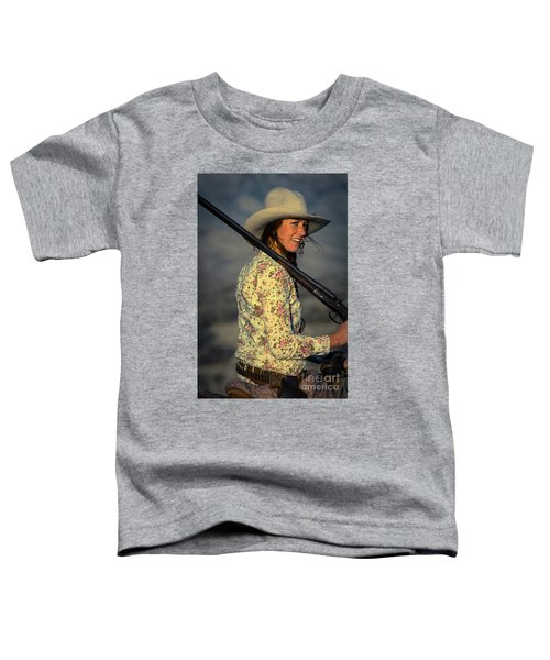 Shotgun Annie Western Art By Kaylyn Franks Toddler T-Shirt