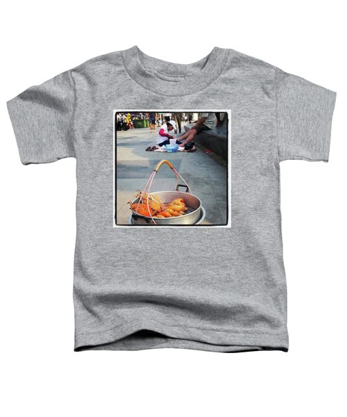 Toddler T-Shirt featuring the photograph Shrimping And Crabbing On The by Mr Photojimsf