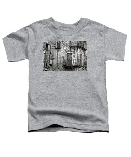 Sicilian Medieval Facade Toddler T-Shirt