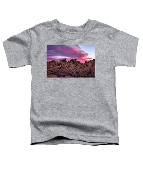 Sierra Clouds At Sunset Toddler T-Shirt
