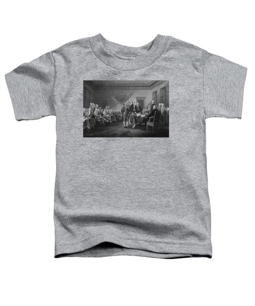 Signing The Declaration Of Independence Toddler T-Shirt by War Is Hell Store