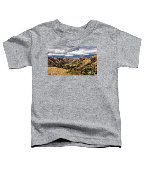 Silence Of Whitebird Canyon Idaho Journey Landscape Photography By Kaylyn Franks  Toddler T-Shirt