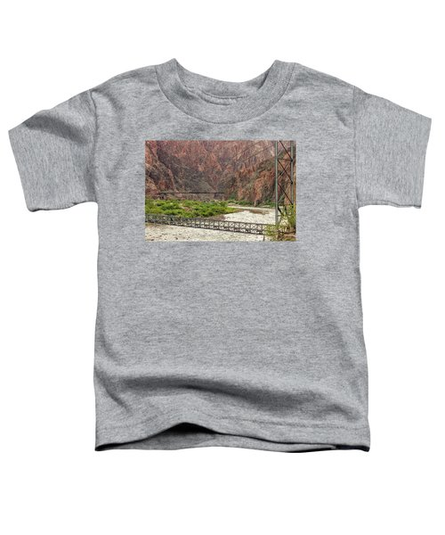 Silver And Black Bridges Over The Colorado, Grand Canyon Toddler T-Shirt