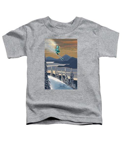 Silver Star Ski Poster Toddler T-Shirt