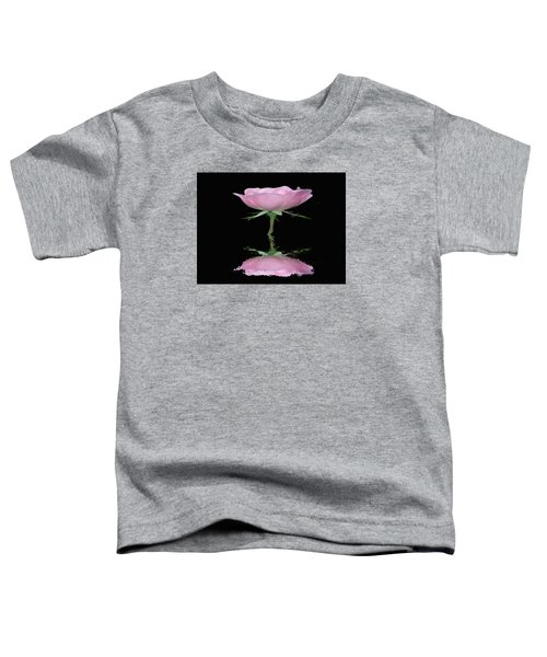 Single Reflected Pink Rose Toddler T-Shirt