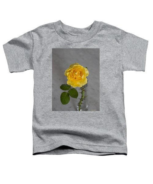 Single Yellow Rose With Thorns Toddler T-Shirt
