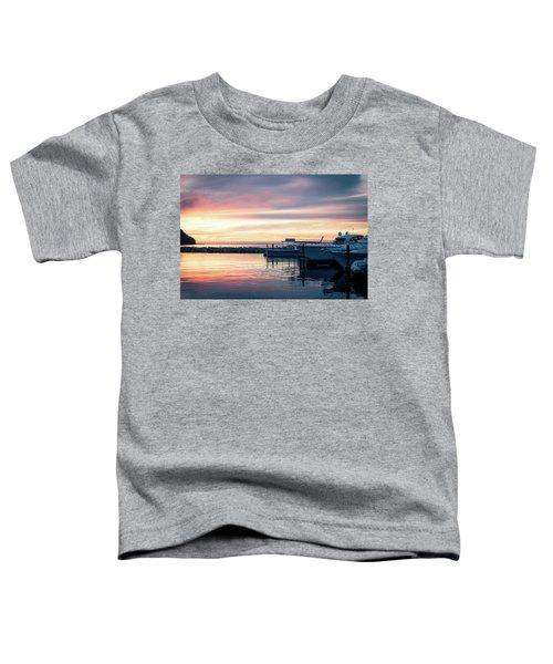 Sister Bay Marina At Sunset Toddler T-Shirt