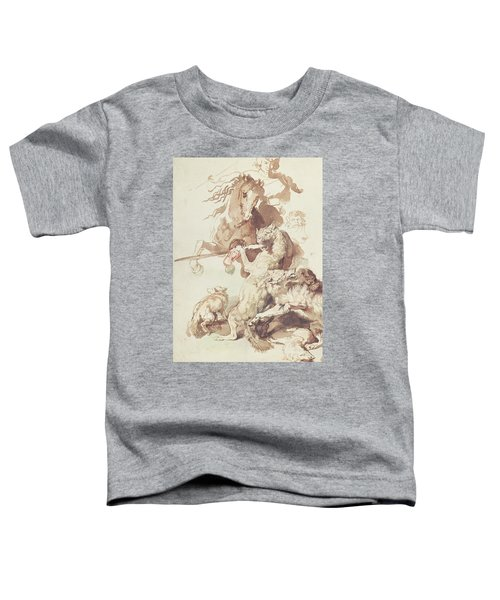 Sketch For A Wolf Hunt Toddler T-Shirt