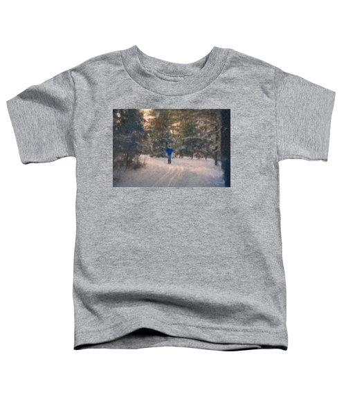 Skiing Borderland In Afternoon Light Toddler T-Shirt