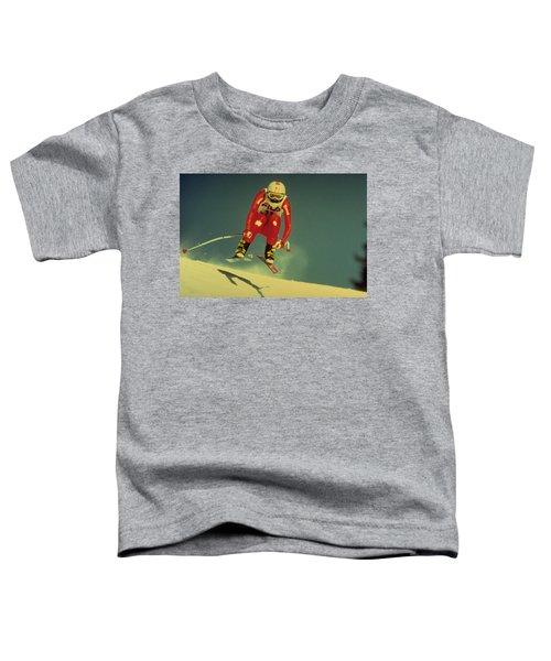 Skiing In Crans Montana Toddler T-Shirt
