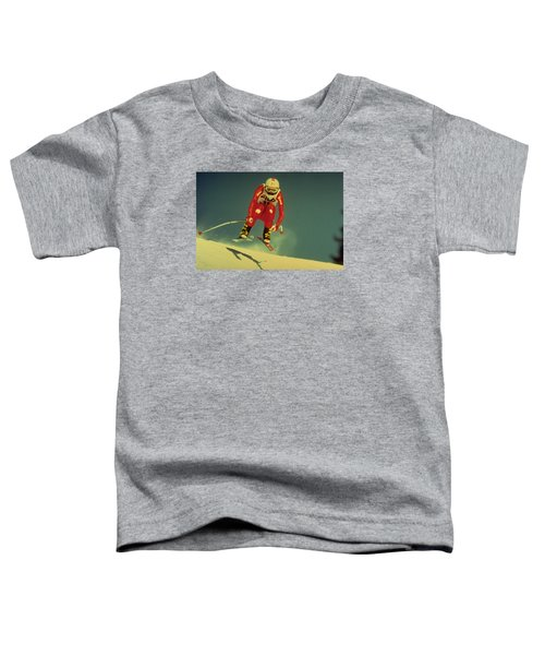 Toddler T-Shirt featuring the photograph Skiing In Crans Montana by Travel Pics
