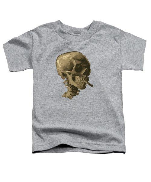 Skull Of A Skeleton With Burning Cigarette - Vincent Van Gogh Toddler T-Shirt