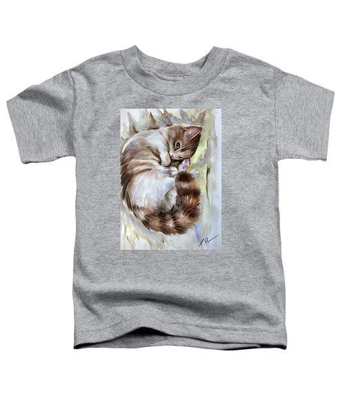 Sleepy Cat 2 Toddler T-Shirt