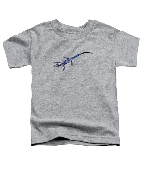 Slightly Waving A Tail. Alligator Baby Toddler T-Shirt