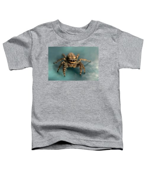 Toddler T-Shirt featuring the photograph Small Jumping Spider by Jaroslaw Blaminsky