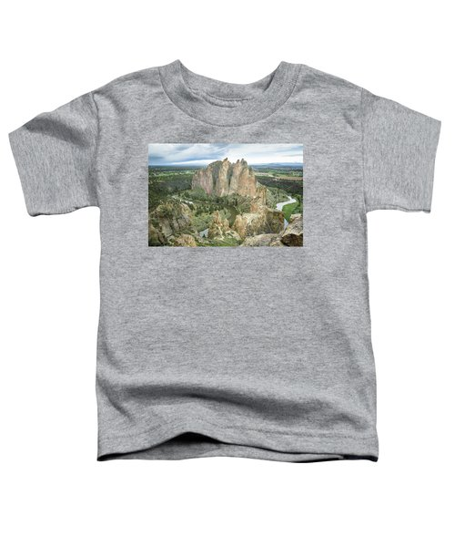 Smith Rock From Misery Ridge Toddler T-Shirt