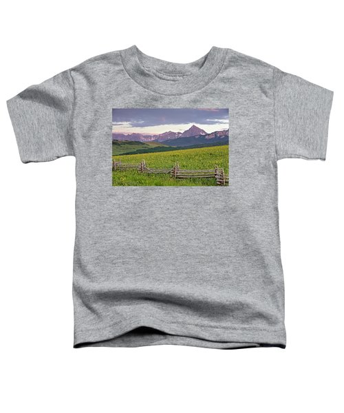 Toddler T-Shirt featuring the photograph Sneffels Fence 2 by Whit Richardson