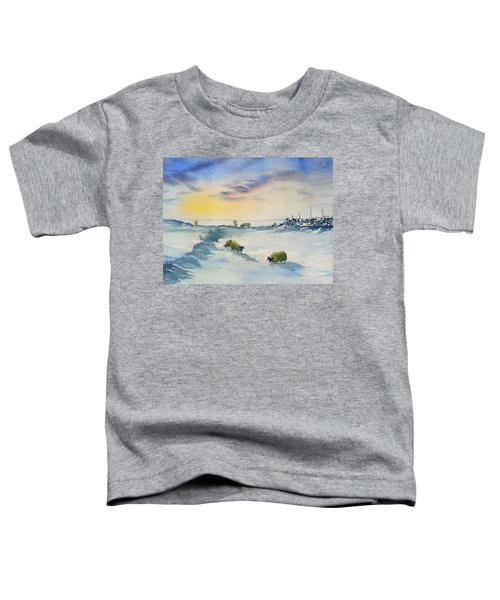 Snow And Sheep On The Moors Toddler T-Shirt
