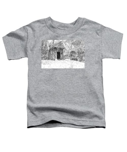 Snow Covered Chicken House Toddler T-Shirt