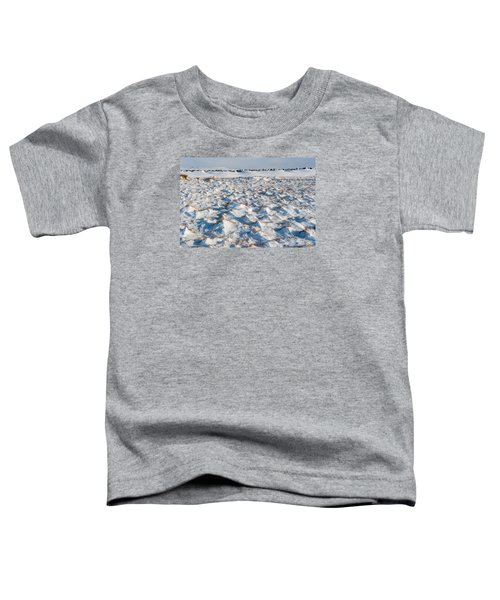 Snow Covered Grass Toddler T-Shirt
