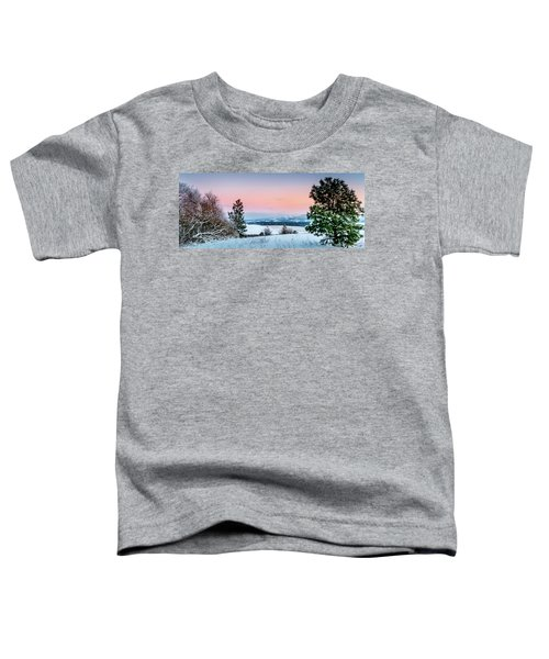 Snow Covered Valley Toddler T-Shirt