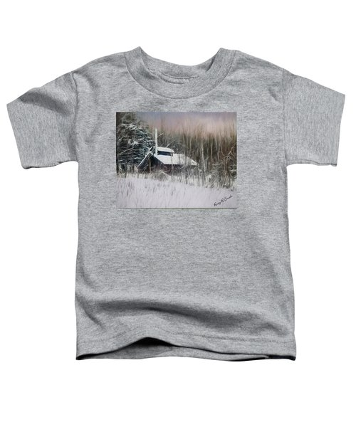 Snow Covered Vermont Sugar Shack.  Toddler T-Shirt