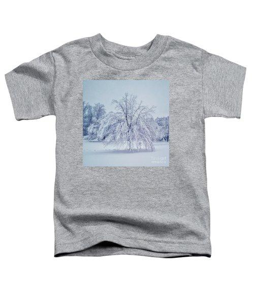 Snow Encrusted Tree Toddler T-Shirt