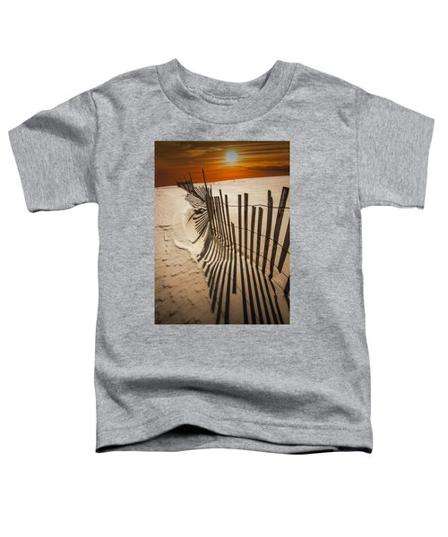 Snow Fence At Sunset Toddler T-Shirt