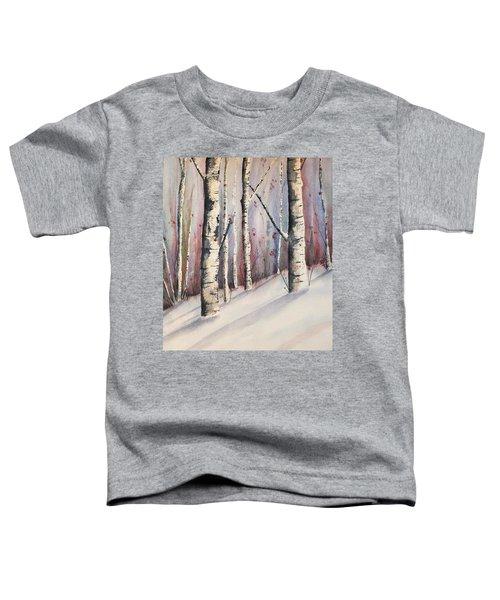 Snow In Birches Toddler T-Shirt