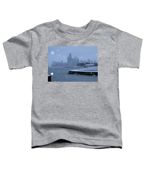 Snowy Chicago Toddler T-Shirt