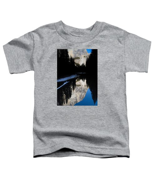 Toddler T-Shirt featuring the photograph Snow Sneaks In by Lora Lee Chapman