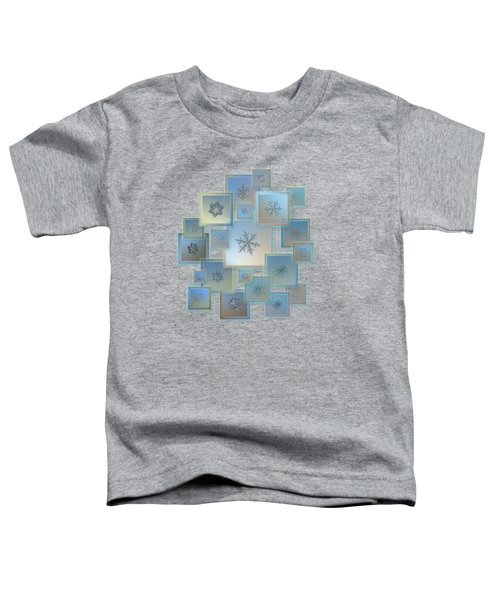 Snowflake Collage - Bright Crystals 2012-2014 Toddler T-Shirt
