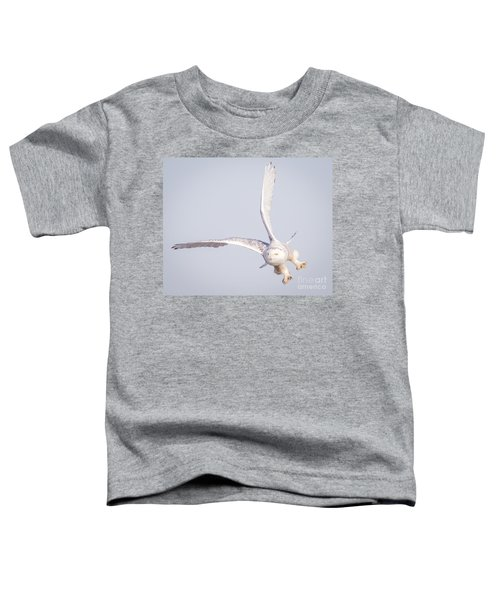 Snowy Owl Flying Dirty Toddler T-Shirt