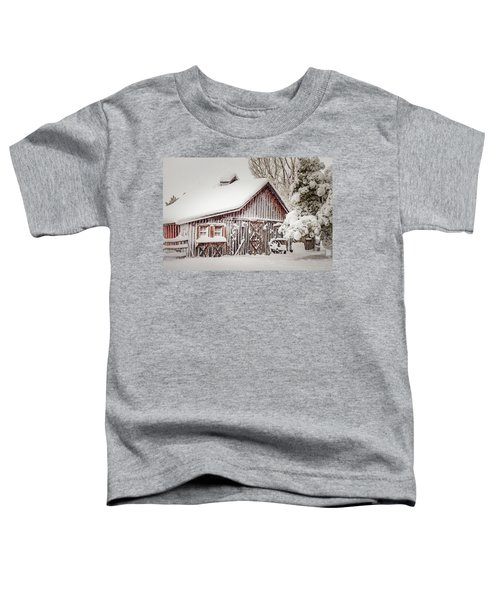 Snowy Country Barn Toddler T-Shirt