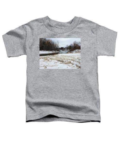 Snowy Elk Rapids River Toddler T-Shirt