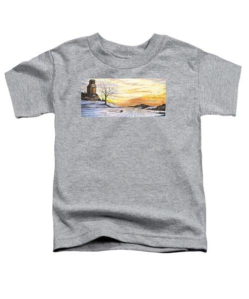 Snowy Farm Toddler T-Shirt