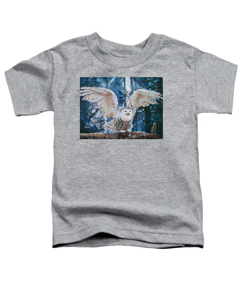 Snowy Owl On Takeoff  Toddler T-Shirt